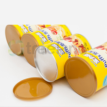Hermetic Custom Round Paper Packaging Can for Food Power Food Paper Storage Box