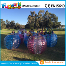 Half color bubble football soccer bubble inflatable bumper ball