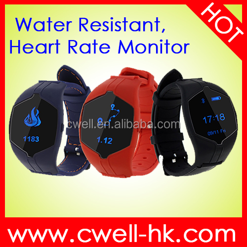 New Model 0.86 Inch OLED Screen Heart Rate Monitor Bluetooth V4.0 Smart Watch
