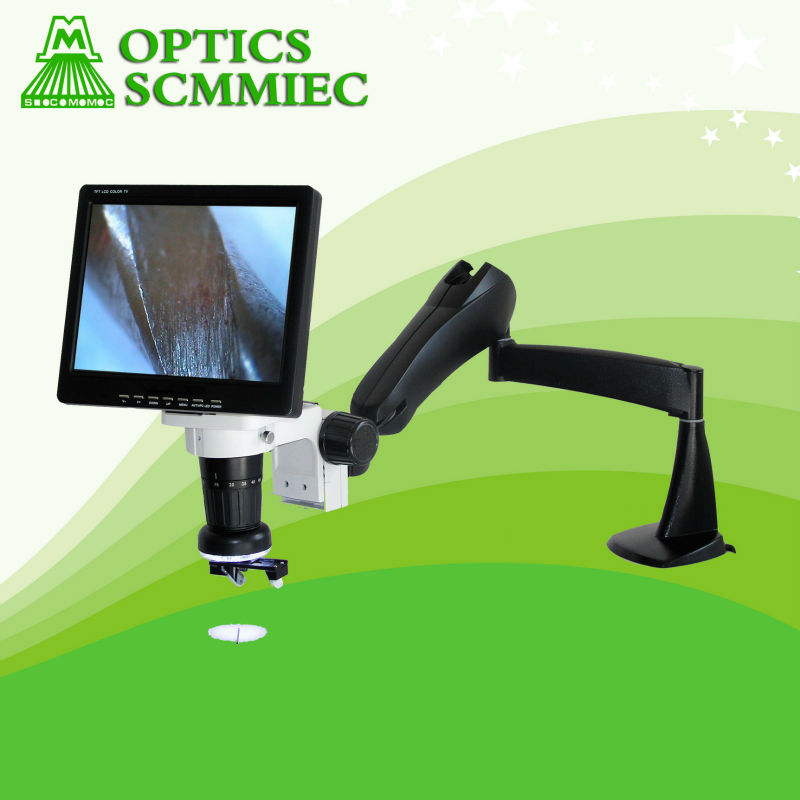 SC-LCD 3D digital video zoom stereo microscope with 10inch LCD screen