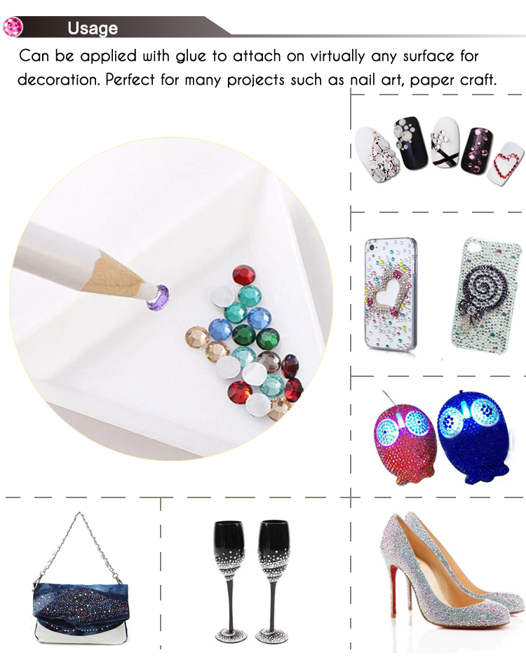 Manufacture high quality flat crystal AB SS12 non hot fix rhinestone,trial small order crystal rhinestone nail art