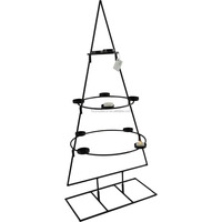 Made in China 2 size wholesale KD design Metal X's tree candle holder with ten tealight holder for Christmas decoration