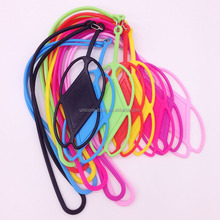 hot selling good quality wholesale silicone lanyard cell phone holder