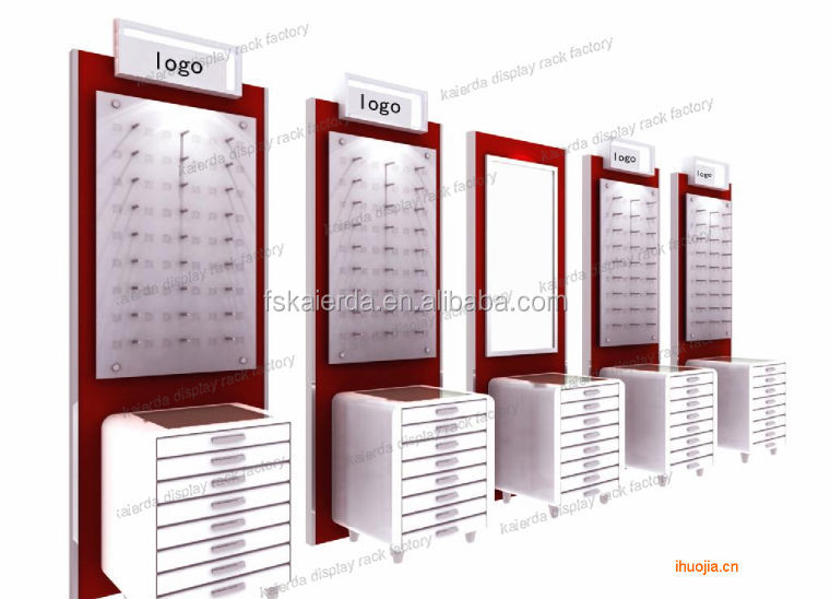 new design wall mounted sunglasses displays