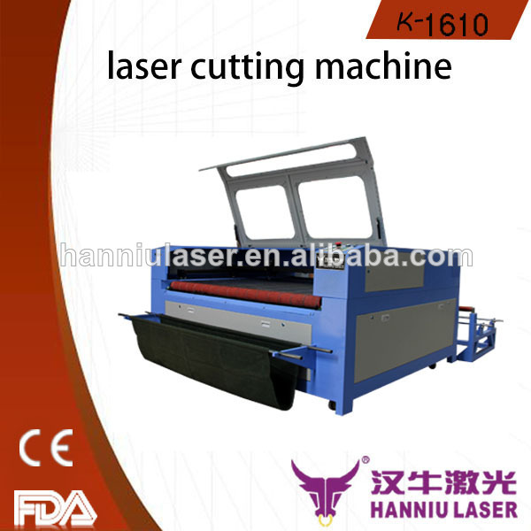 fast speed K-1610 for fabric and garment laser cutting jigsaw puzzle machine