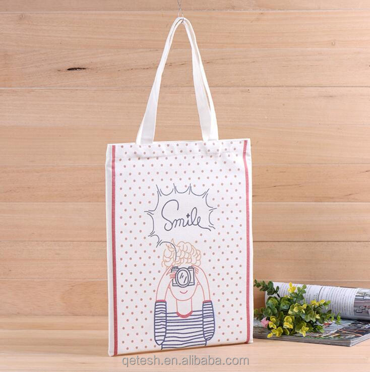 High Quality Casual Canvas Tote Bag With Custom Printed Logo