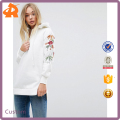 Guangzhou factory simple fashion sweatshirt 100%cotton fleece supreme sweatshirt