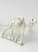 METAL NAPKIN RINGS CAMEL SILVER PLATED BRASS
