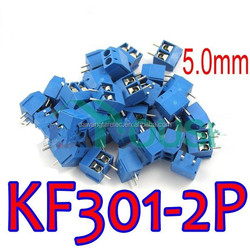 KF301-2P 2 pins Plug-in Screw Terminal Block Connector 5.0 mm Pitch
