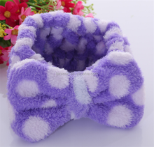 china supplier microfiber coral fleece broad facial elastic hair bands
