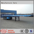 china factory sale flatbed container carrier semi trailer