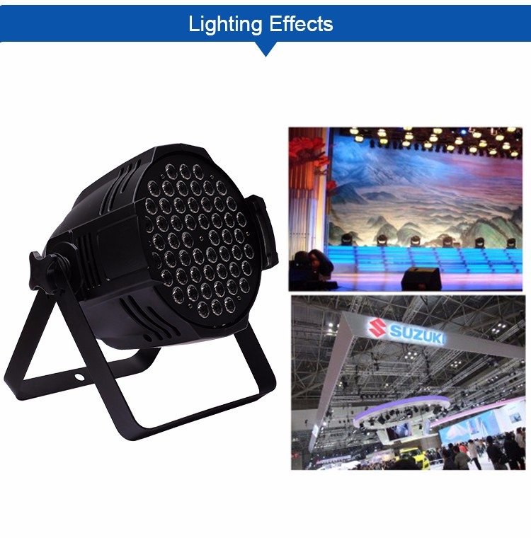 Guangzhou sound equipment professional stage lighting par led 64 light 54x3w par 64 cans