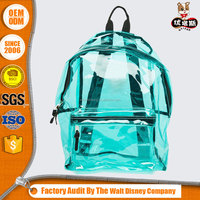girl fashionable Casual PVC material clear backpack
