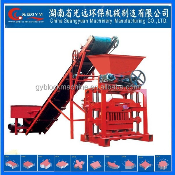 Hydraulic small scale industries beton block machines