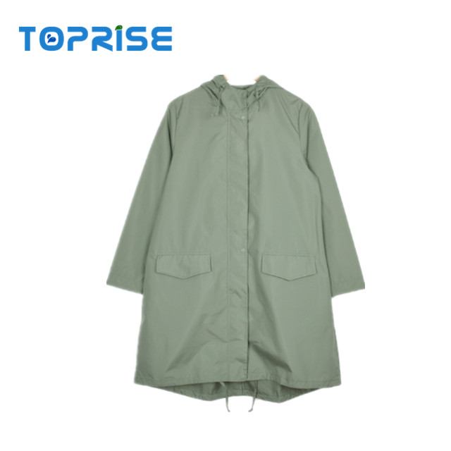 Fashion style waterproof wind coat womens rain coat