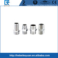 Male pipe fittings Hex. Nipple stainless steel BSP 304