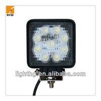 4inch 27w led work light square cheap led led light for for auto motorcycle jeep
