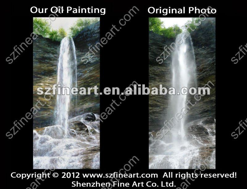 waterfall oil painting