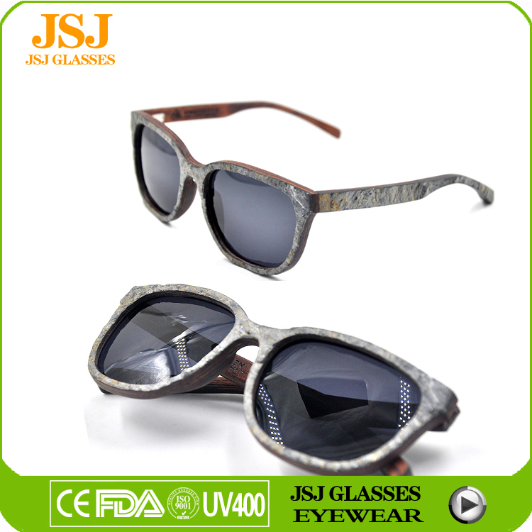 Fashionable stone wood sunglasses ,stone wood sunglasses wholesale China sunglasses factory