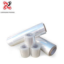 Clear pe plastic packaging rolls lldpe wrap stretch pallet film