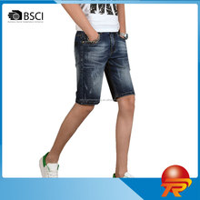 wholesale quality fashion men's denim jeans shorts in summer boys' capri pants low price made in china