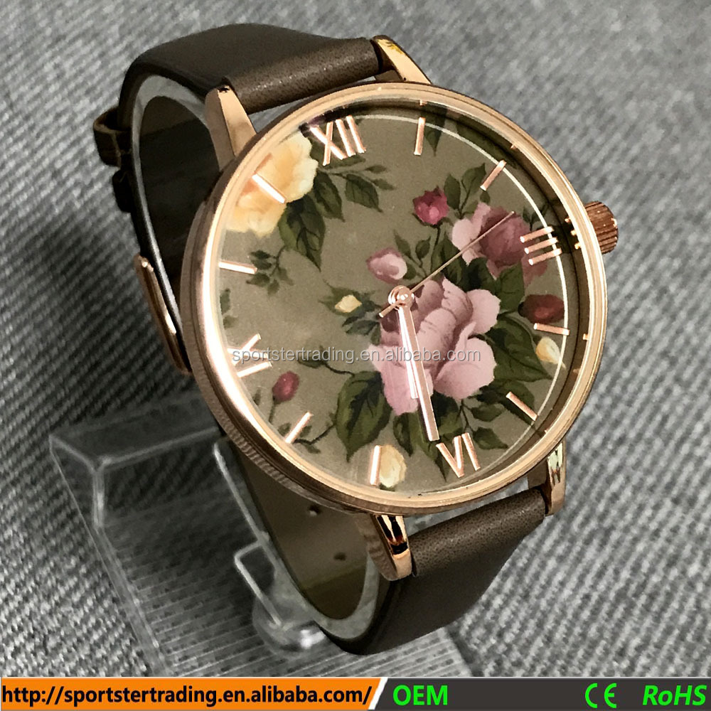 New fashion watches rose gold case nice design watch suppliers china