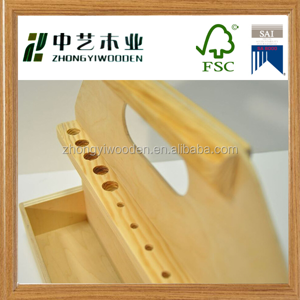 Trade assurance new factory price wooden metal tool box with handle wholesale
