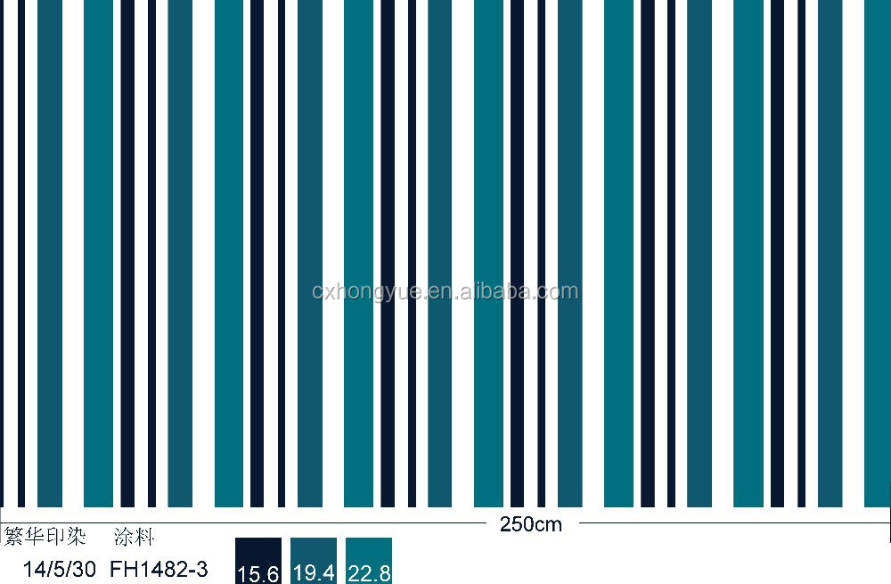 100% polyester stripe microfiber dying bed s100% polyester stripe microfiber dying bed sheet fabric/printed strip bedding fabric