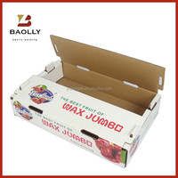 Custom corrugated fruit packaging box banana carton box