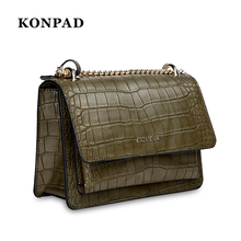 KA0054 Crocodile PU crossbody shoulder bag small women messenger bag leather