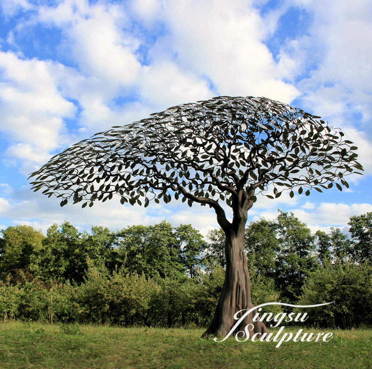 Beautiful design garden metal tree sculpture