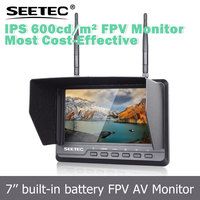 "7"" wireless monitor channel auto scan anti sunlight glare battery inside fpv rc transmitter and receiver with 5.8GHz"