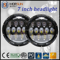 Factory 75w 7 inch jeep led headlight led lights 7 inch jeep led headlight for cars off road motorcycle led driving light