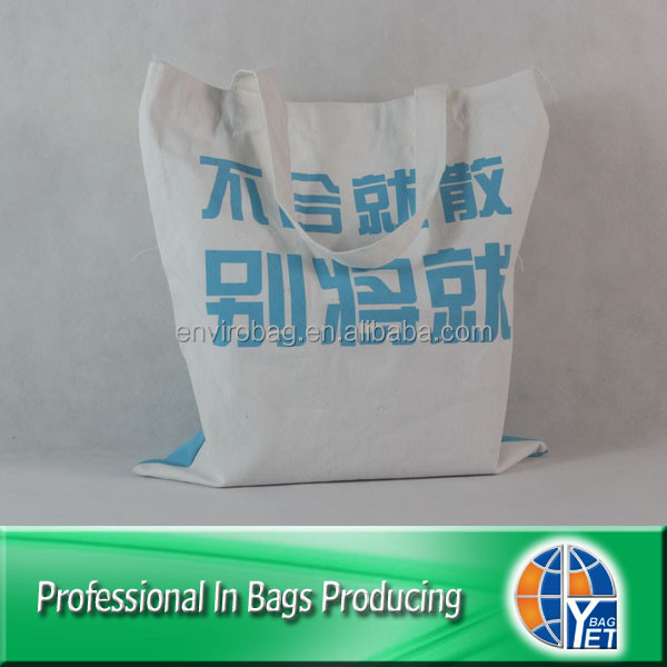 Lead free Screen Printed Large Organic Cotton Carry Bag