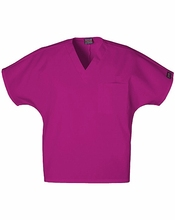 Custom solid color unisex v neck scrub medical tunic tops cherokee uniforms
