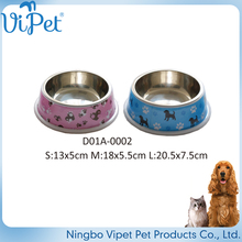 Cute non-toxic pet customized stainless steel pet dog bowl
