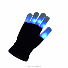 Hot Sale New Fashion Funny Multi-Color Electro LED Light Up Halloween Dance Gloves Rave Party Flashing Fun