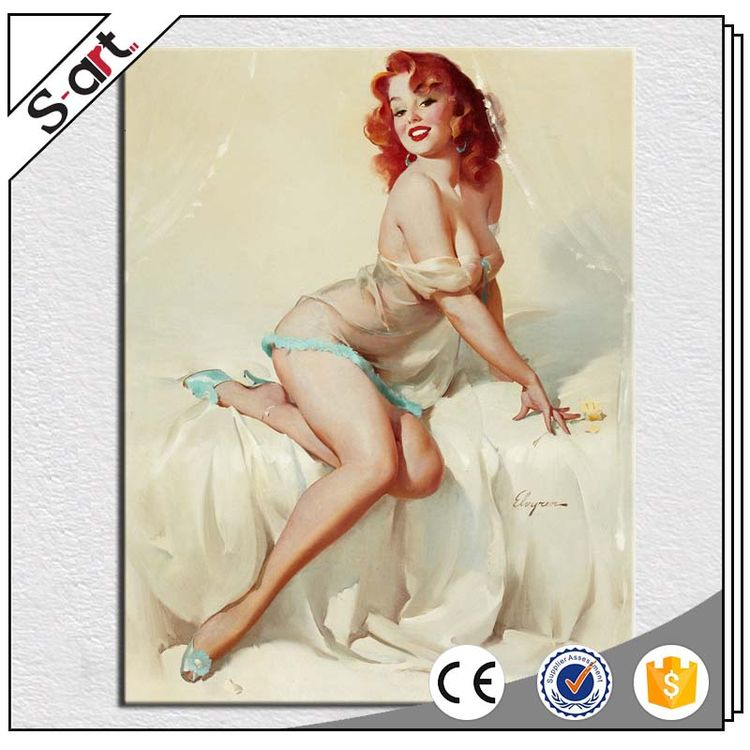 Direct factory price best selling nude chinese lady oil painting