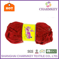 High quality polyester slub yarn in mixed colors for weaving scarves