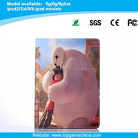 BigHero cartoon character leather case for iPad Air 2 soft tpu cover