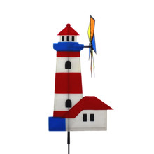BSCI factory best selling light house design nylon fabric garden windmill