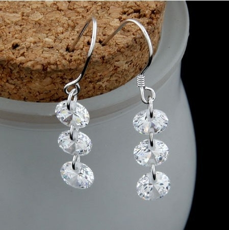 925 Sterling Silver Hook Earrings Cheap Wholesale Stud Earrings