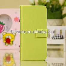 FL2780 2013 Guangzhou hot selling luxury brushed metal flip leather case for iphone 5c