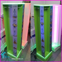 Factory Customized Plastic Floor Spinning Acrylic Cell Phone Accessory Display Racks