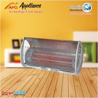 500/1000W Quartz heater with over heat protection and safety tip over switch