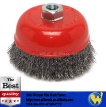 Coarse Crimped Carbon Steel Wire Cup Brush