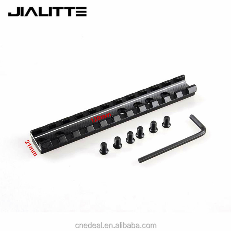 Jialitte Tactical Picatinny 11 Slots Weaver Rail 20mm Scope Mount 6 Screws 1 Wrench Outdoor Hunting Base Accessories J019