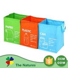 Wholesal Colorful Garbage Classification Recycled PP Woven Laminated Bags