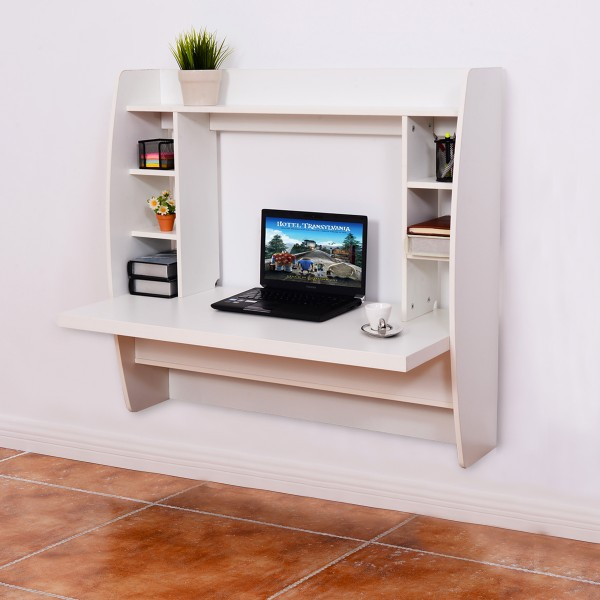 Home furniture wall mounted wooden computer table, laptop desk