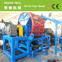 Double shaft waste tire shredder/used tire shredding machine